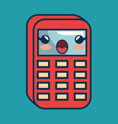 Calculator math character handmade drawn vector