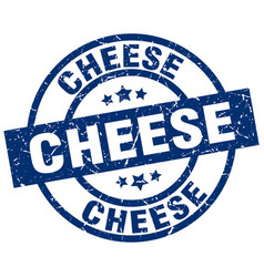cheese blue round grunge stamp vector image vector image