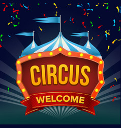 circus sign fun amusement performance vector image