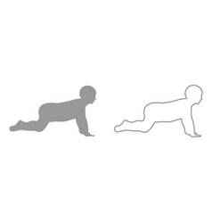 crawling baby it is black icon vector image