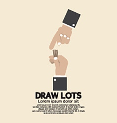 Draw Lots Risk Taking Concept vector image
