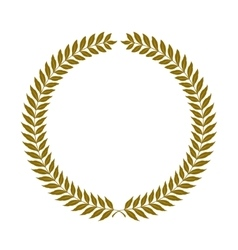 golden laurel wreaths - vector image vector image