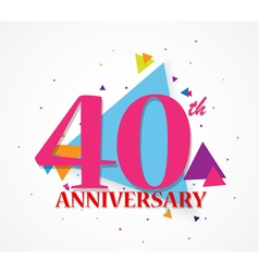 Happy Anniversary celebration with triangle shape vector image vector image