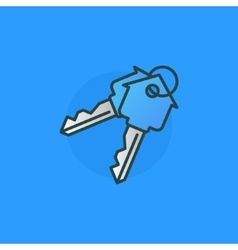 House keys colorful sign vector