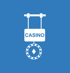 Icon casino street banner vector