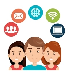 Internet communication technology isolated icon vector