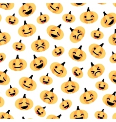 Light flat Halloween pumpkin seamless pattern vector image vector image