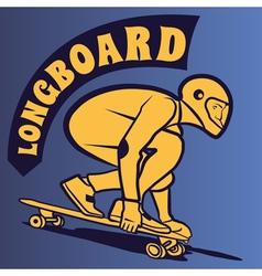 Longboard theme vector image