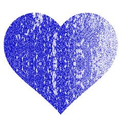 Love heart grunge textured icon vector