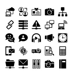 Network and communication icons 7 vector