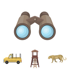 observation tower for the hunter leopard hunting vector image vector image