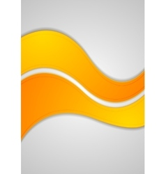 Orange abstract waves background vector