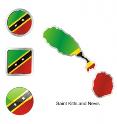 Saint Kitts and Nevis vector image vector image