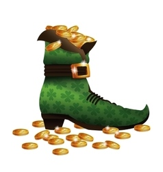 saint patricks day boot golden coins vector image