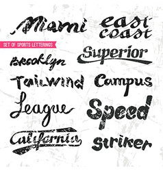 Set of sports letterings vector