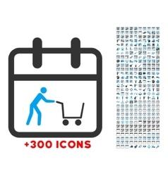 Shopping day icon vector