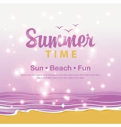 Travel banner summer time vector image vector image