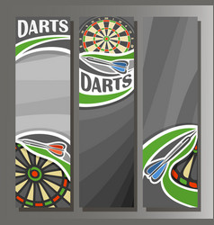 Vertical banners for darts board vector