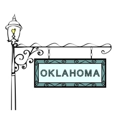 Oklahoma retro pointer lamppost vector
