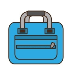 Blue bag packback travel tourist vector