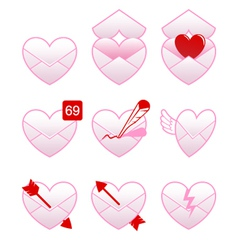 Love message icons vector
