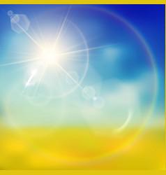 warm lighting summer background vector image