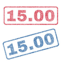 1500 textile stamps vector