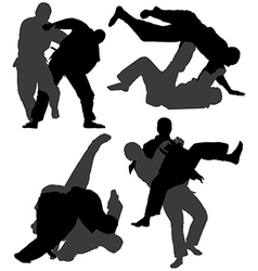 Judo Silhouette vector image