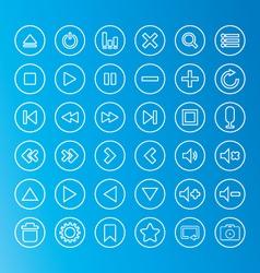 Media icon line vector