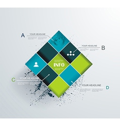 Abstract modern frame for business futuristic vector image