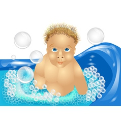 Child bath vector