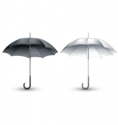 Black amp white umbrellas vector