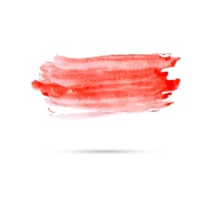 Watercolor background with red paint vector image