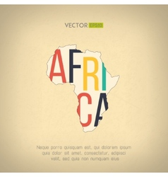 Africa map in vintage design african vector