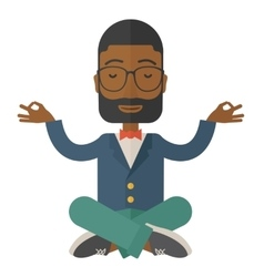 African Businessman get the idea vector image