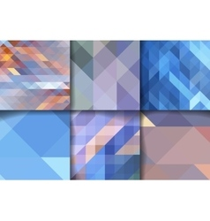Set of abstract geometric background templates vector