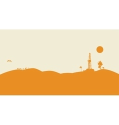 Oil drilling background vector