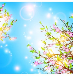 Bright spring background vector