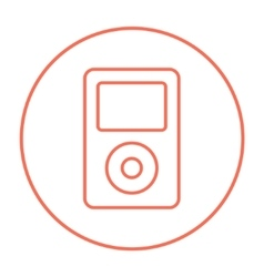 Mp3 player line icon vector