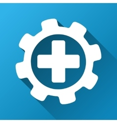 Medical settings gradient square icon vector