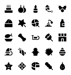 Christmas icons 4 vector