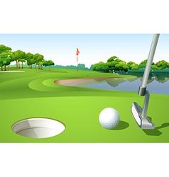 A golf course vector