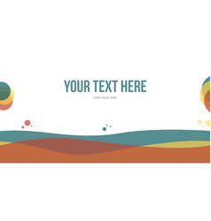 Abstract header website simple design vector