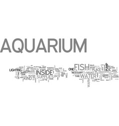 aquarium supplies part my first experience with vector image vector image