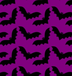 Bat pattern halloween vector