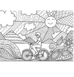 Biking vector