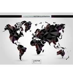 Black crystal world map vector