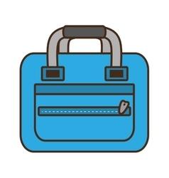 Blue bag packback travel tourist vector