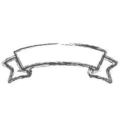 blurred silhouette of label border insignia vector image