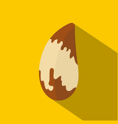 brazil nut icon flat style vector image